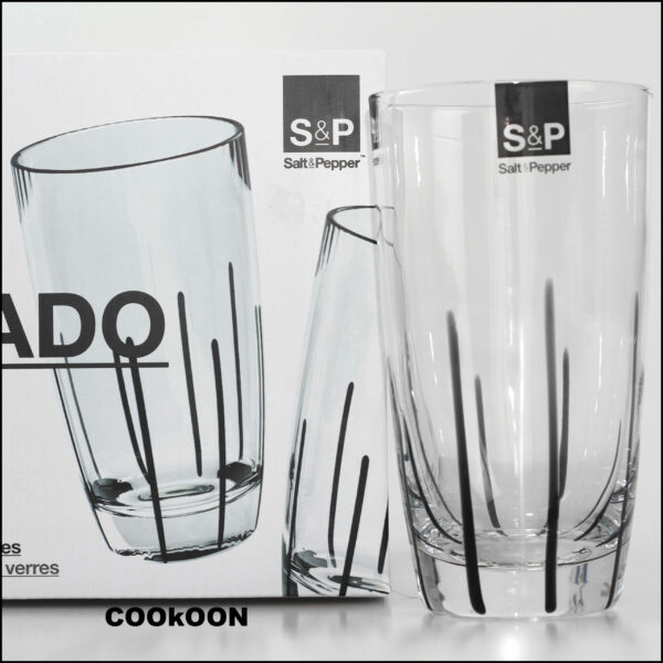 S&P set van 4 Mikado zwart