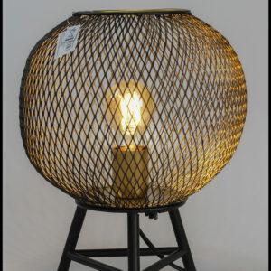 tafellamp metaal goud zwart