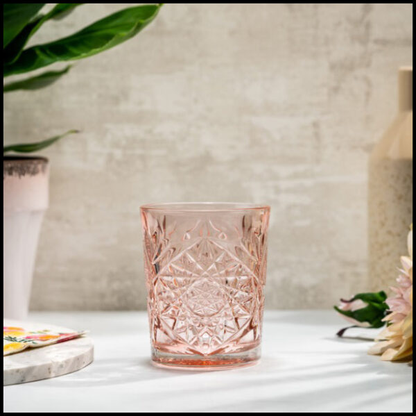 libbey hobstar coral pink 1