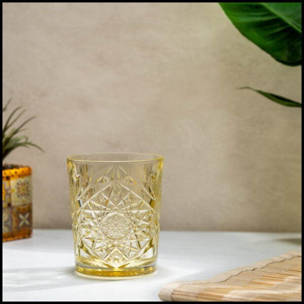 libbey hobstar pale yellow 1
