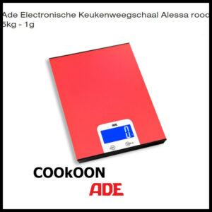 DE keukenweegschaal alessa rood