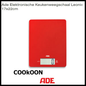 ADE keukenweegschaal leonie rood