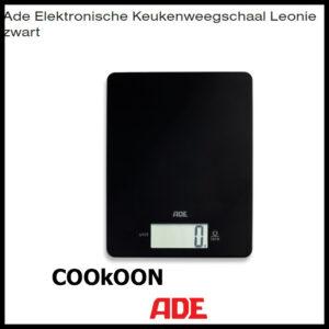 ADE keukenweegschaal leonie zwart