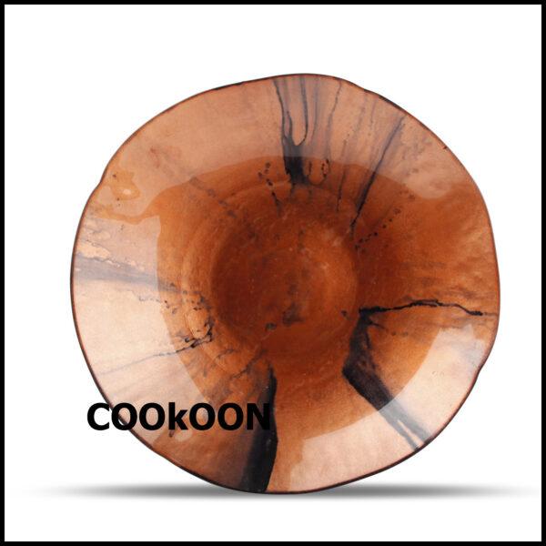 DECO schaal 40XH6,5CM RED GUNA 800063_2