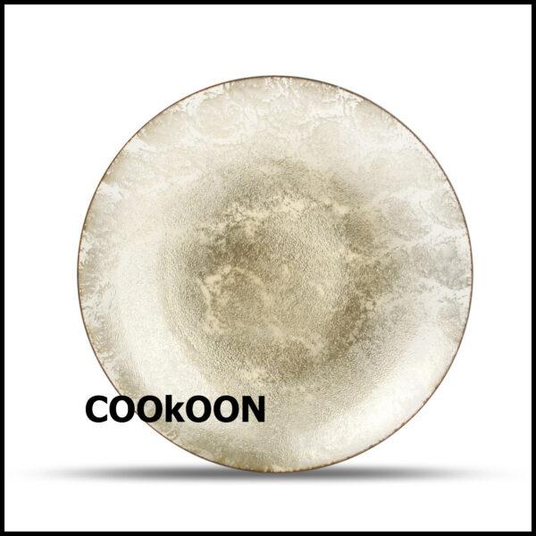 DECO schaal 40XH6,5CM SPONGED GOLD GLINT 800055_2