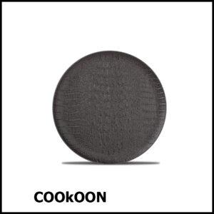 F2D PLAT BORD 21CM BLACK CROCO 604150