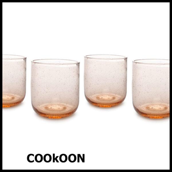 ONA sparkle drinkglas set van 4 peach