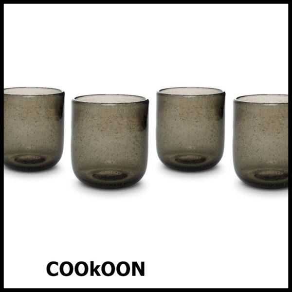 ONA sparkle drinkglas set van 4 smoked