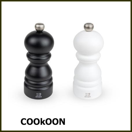 PEUGEOT paris duo pepermolen noir mat en zoutmolen blanc mat 12 cm