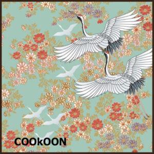 Salon Boudoir Papieren Servetten Mint Affair, Kimono mint, 33x33cm