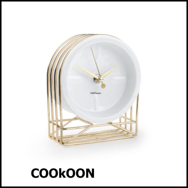 Table clock 13x7xH16cm gold Milan