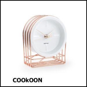 Table clock 13x7xH16cm rose gold Milan