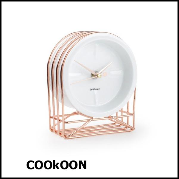 Table clock 13x7xH16cm rose gold Milan