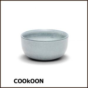 S&P 'relic blue' stoneware bowl kom Ø14cmx h7cm