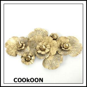 wanddecoratie bloem Iron powder coated 115cmx 63cm a