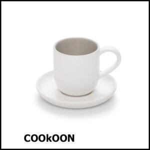 s&p café espresso - mokka kop en schotel 11cl - set van 2 stuks
