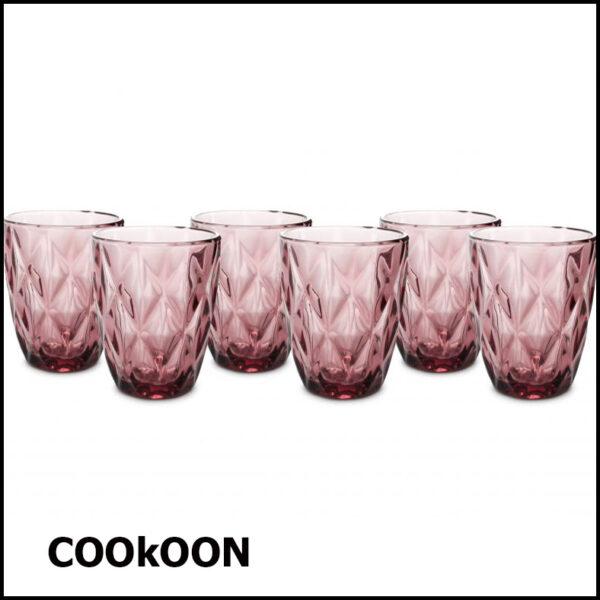 ona okta purple wijnrood - drinkglas 24cl - set van 6 a