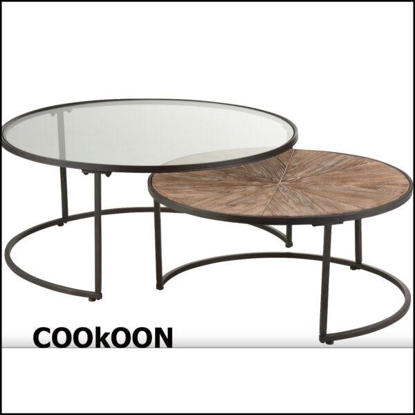 j'line - salontafel set van 2 b